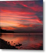 Streaming Sunset Metal Print