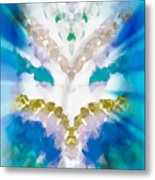 Streams Of Light In Turquoise Metal Print
