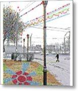 Street And Colors. Nizhny Novgorod, Sormovo. 3 May, 2015 Metal Print