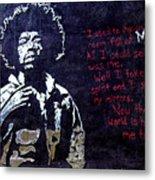 Street Art - Jimmy Hendrix Metal Print