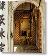 Street Cafe In Ipoh Metal Print