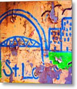 Street Canvas Metal Print