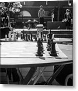 Street Chess 2 Metal Print