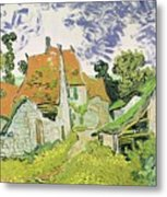 Street In Auvers Sur Oise Metal Print