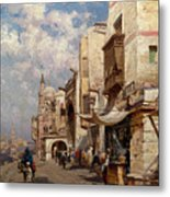 Street In Cairo Metal Print