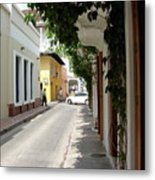 Street In Colombia Metal Print