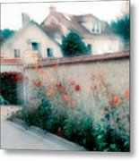Street In Giverny, France Metal Print