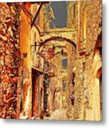 Street In Old Town. Metal Print
