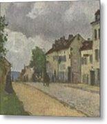 Street In Pontoise Strabe In Pontoise Camille Pissarro Metal Print