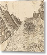 Street In Saintes-maries-de-la-mer Metal Print