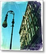 Street Lamp And Fire Escape Metal Print