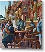 Street Life Of Peking, 1921 Metal Print