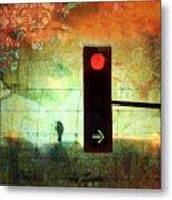 Street Lights And Cold Nights  Metal Print