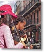 Street Musicians Metal Print