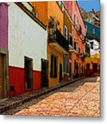 Street Of Color Guanajuato 5 Metal Print