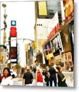 Street Of New York City Metal Print
