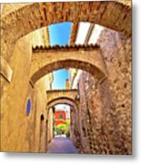 Street Of Sirmione Historic Architecture View Metal Print
