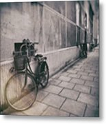Street Photo Bicycle Metal Print