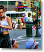 Street Photography Nyc Paint  Metal Print