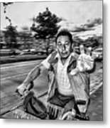 Unknown Bicycle Rider Metal Print