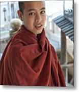 Street Portrait Of A Young Monk Metal Print