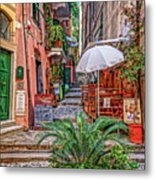 Street Scene Monterosso Italy Dsc02470 Metal Print