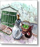 Street Seller In Helsingor Metal Print