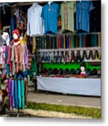 Street Shops At Ataco Metal Print