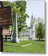 Street Sign In Fitzwilliam, New Hampshire Metal Print