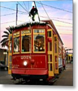 Streetcar Sunset Metal Print