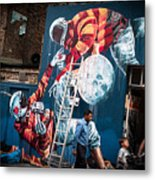 Streets And Art In Colour. Metal Print