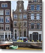 Streets And Channels Of Amsterdam Metal Print