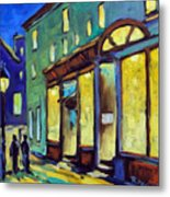 Streets At Night Metal Print