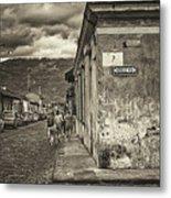 Streets Of Antigua - Guatemala Metal Print