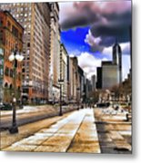 Streets Of Chicago Metal Print