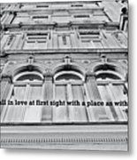 Streets Of London Quote Metal Print