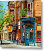 Streets Of Montreal Over 500 Prints Available By Montreal Cityscene Specialist Carole Spandau Metal Print