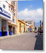 Streets Of Oaxaca Mexico 2 Metal Print