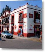 Streets Of Oaxaca Mexico 3 Metal Print