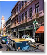Streets Of Puebla 3 Metal Print