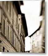 Streets Of Siena 2 Metal Print