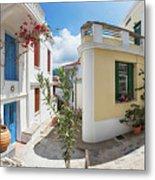 Streets Of Skopelos Metal Print