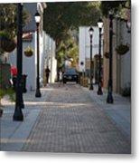 Streets Of St. Augustine Metal Print