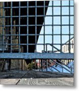 Streetscape 3 Housing Metal Print