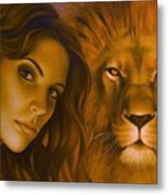 Strenght And Tenderness Metal Print