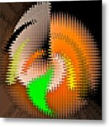 Stress Disconnection Metal Print