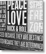 Stress Free Zone Too Metal Print
