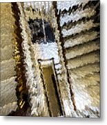 Stretched Stairs Metal Print