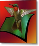 Stretching My Wings Metal Print