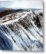 Striding Edge Leading To Helvellin Sumit  Metal Print